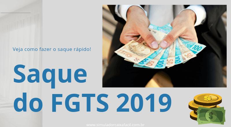 Saque do FGTS 2019