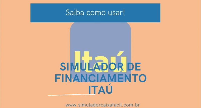 simulador de financiamento itaú