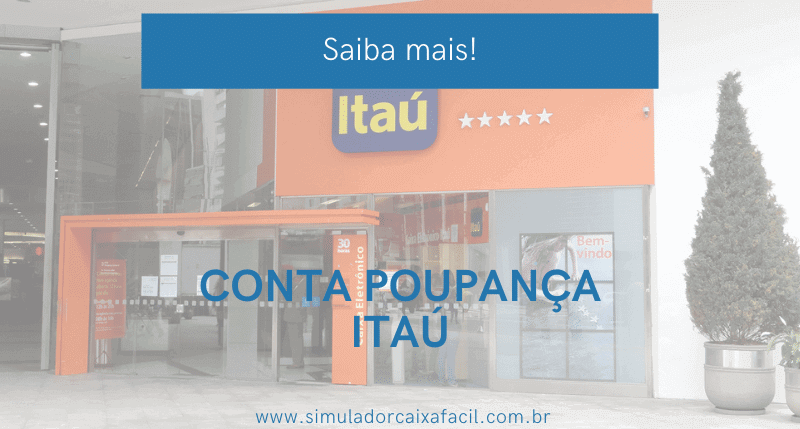 conta poupança itaú