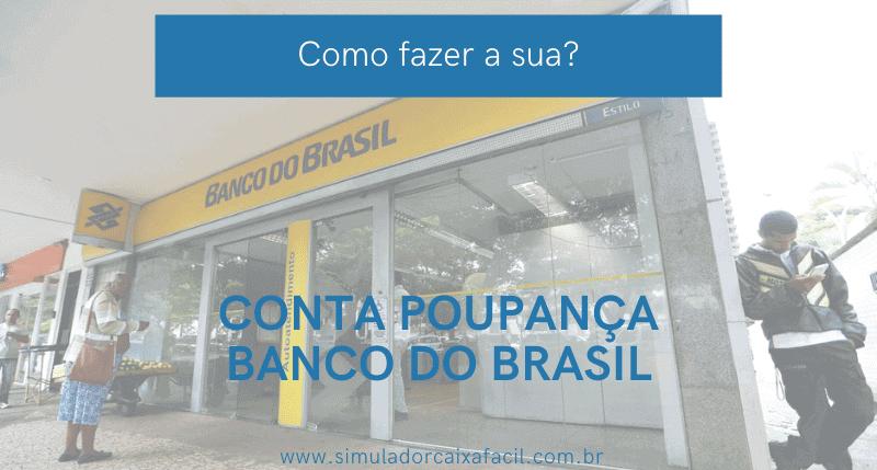 abrir conta poupança banco do brasil
